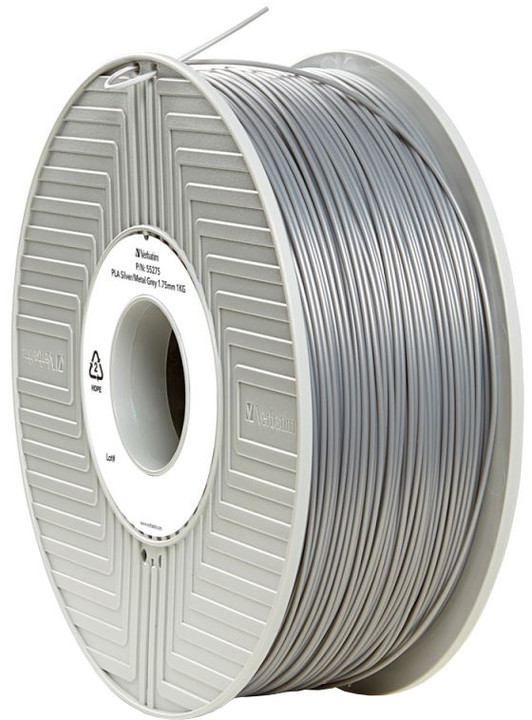 Verbatim tisková struna (filament), PLA, 1,75mm, 1kg, stříbrná