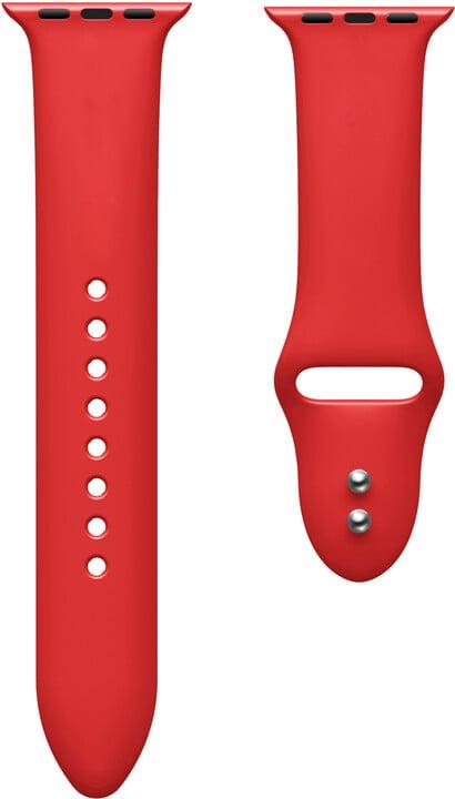 MAX silikonový řemínek pro Apple Watch 4/5, 44mm, červená
