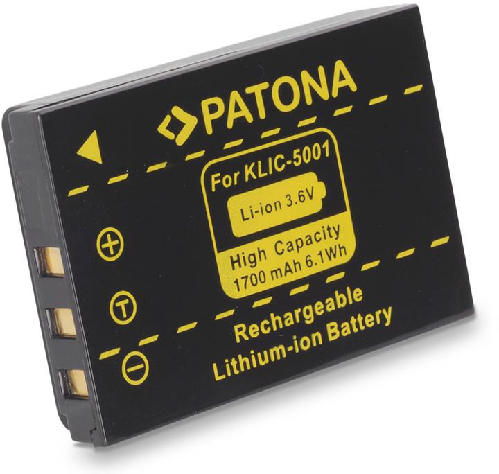 Patona baterie pro Kodak KLIC 5001 1700mAh