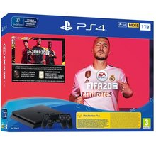 PlayStation 4 Slim, 1TB, černá + 2x DS4 + FIFA 20
