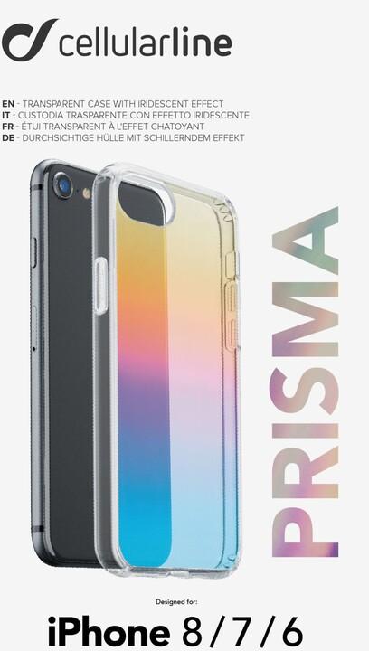Cellularline ochranný kryt Prisma pro iPhone 6/7/8/SE(2020), duhová/transparentní