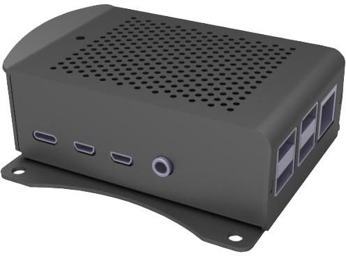 Raspberry Alu pro Raspberry Pi 4 B, wall, černá