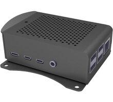 Raspberry Alu pro Raspberry Pi 4 B, wall, černá - RB-AlucaseP4+06