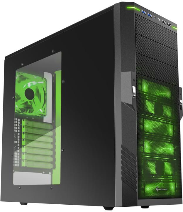 Sharkoon T9 Value, černo-zelená