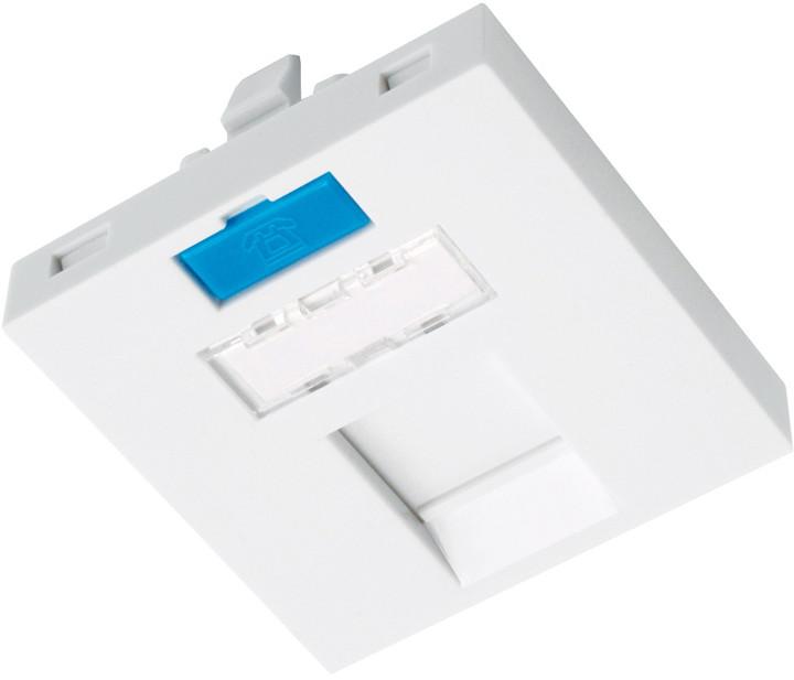 Solarix modul French style 45 x 45mm pro 1 keystone přímý bílý SXF-M-1-45-WH-P