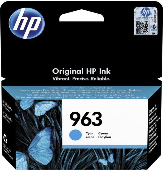HP 3JA23AE č. 963, cyan