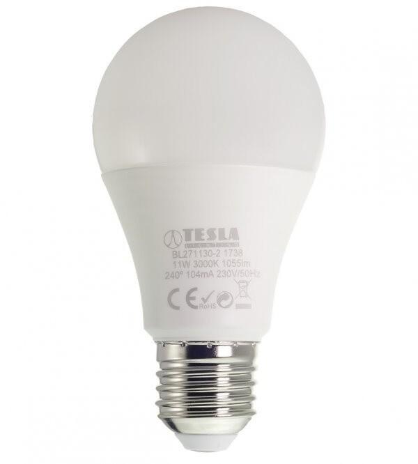 TESLA LED žárovka BULB E27, 11W, 3000K, teplá bílá