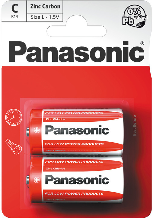 Panasonic baterie R14 2BP C Red zn