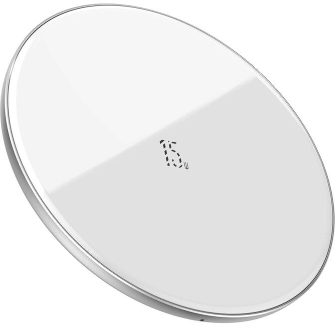 Baseus bezdrátová nabíječka Simple, 15W, bílá