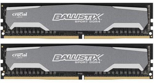 Crucial 8GB (2x4GB) DDR4 2400, Ballistix Sport