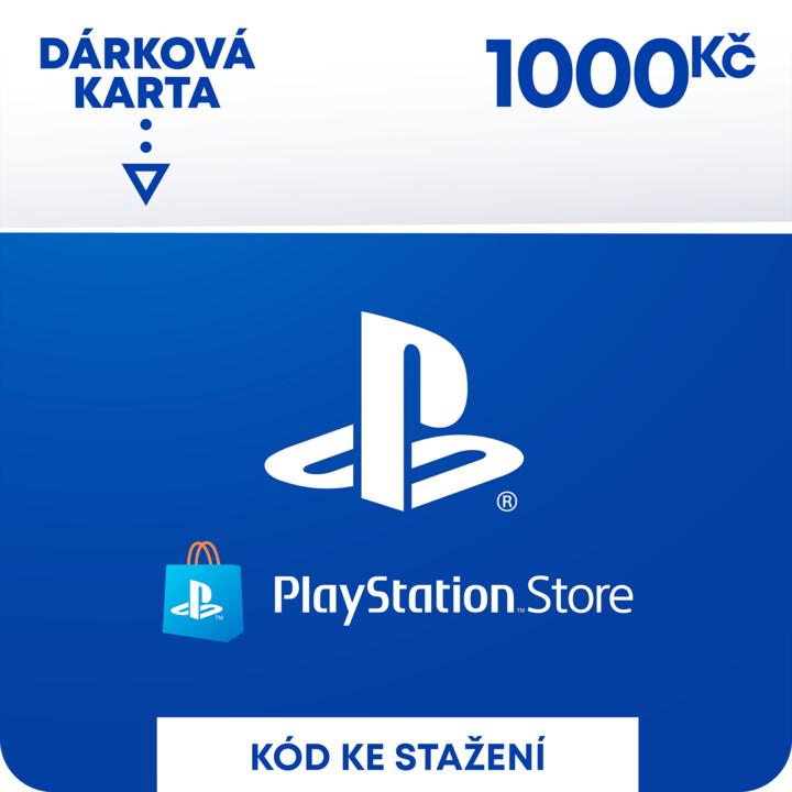 PlayStation Store - Dárková karta 1 000 Kč - elektronicky