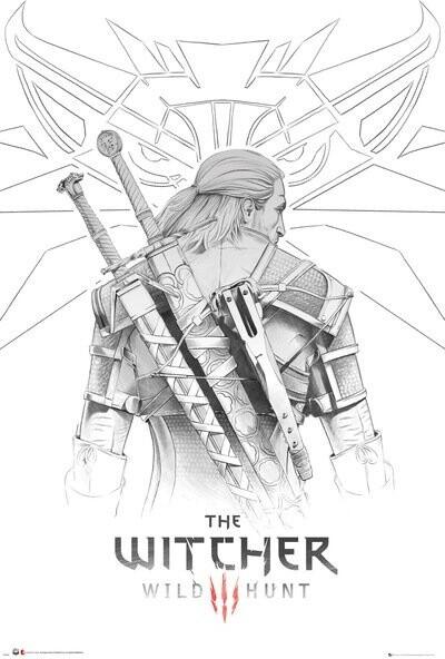 Plakát The Witcher - Geralt Sketch