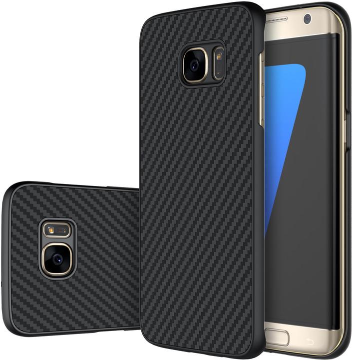Nillkin Synthetic Fiber Ochranný Zadní Kryt Carbon Black pro Samsung G935 Galaxy S7 edge