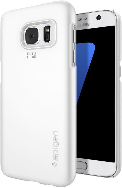 Spigen Thin Fit, shimmery white - Gal S7