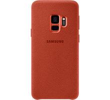 Samsung zadní kryt - kůže Alcantara pro Samsung Galaxy S9, červený