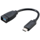 Akasa redukce SuperSpeed+ USB 3.1, Type-C na Type-A, 15cm, černá