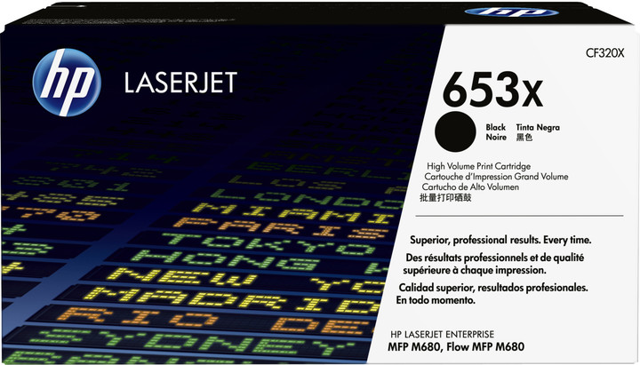 HP 653X, černá
