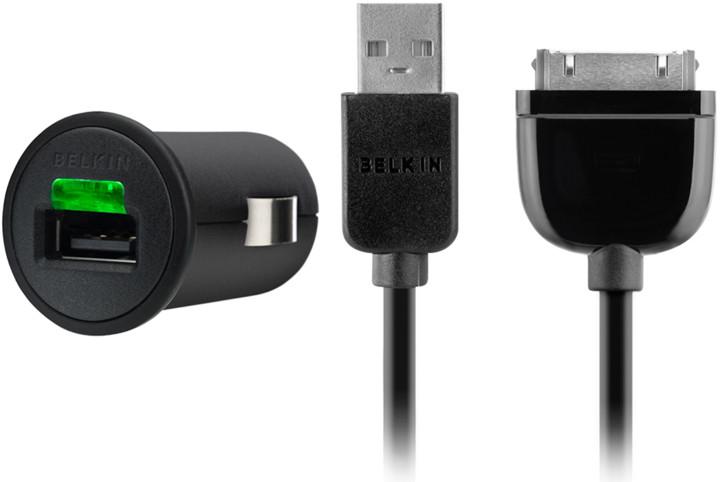 Belkin autonabíječka + kabel