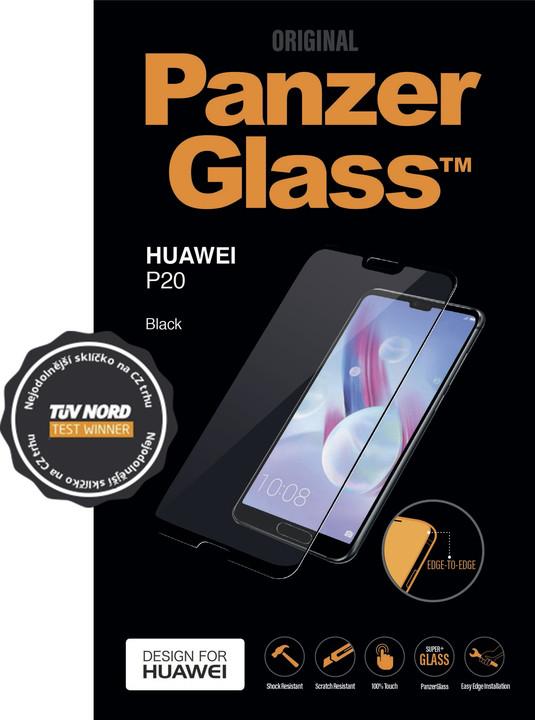 PanzerGlass Edge-to-Edge pro Huawei P20, černé