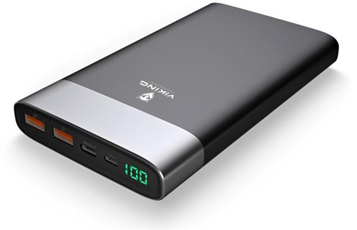 Viking powerbanka VIXEN QC3.0 20000mAh, černá