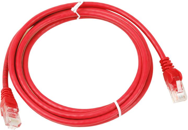 UTP kabel rovný kat.6 (PC-HUB) - 2m, červená