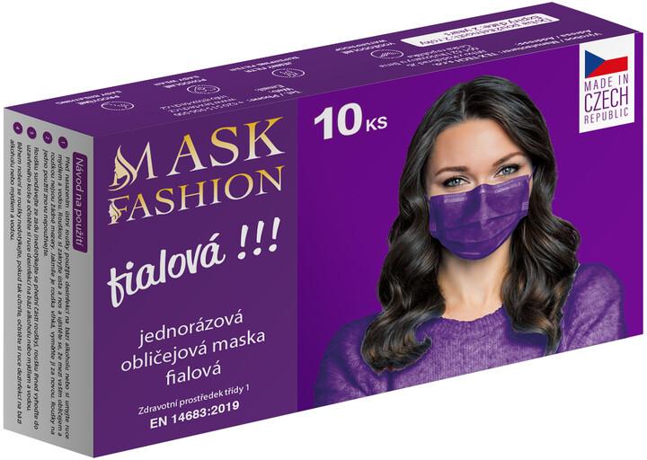 Barevná rouška fashion (10ks), fialová