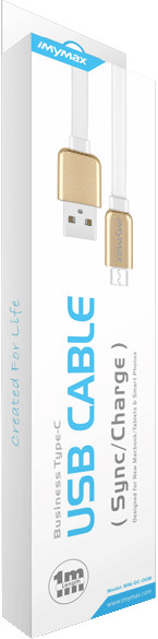 iMyMax Business Type-C USB Cable, bílá/zlatá