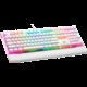 CZC.Gaming Hexblade, herní klávesnice, Cherry MX Silent Red, CZ, bílá