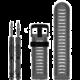 ESES silikonový řemínek dírkovaný pro Garmin Fenix 3/5x/5x plus/5x sapphire/3hr, šedá