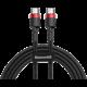 Baseus odolný kabel Series Type-C PD2.0 60W Flash Charge kabel (20V 3A) 2M, červeno/černá