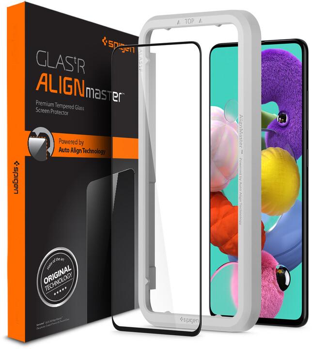Spigen ochranné sklo AlignMaster FC pro Samsung Galaxy A51, černá