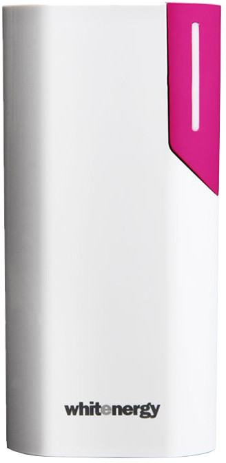 Whitenergy Power Bank 4000mAh 1A Li-Ion, bílá/růžová
