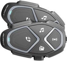 CellularLine Bluetooth handsfree pro uzavřené a otevřené přilby Interphone AVANT, Twin Pack INTERPHOAVANTTP