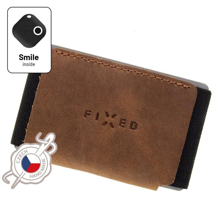FIXED peněženka Smile Tiny Wallet se smart trackerem, hnědá