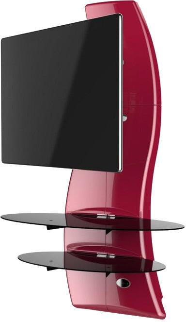 Meliconi 488090 GHOST DESIGN 2000 ROTATION Sestava pro TV a komponenty k instalaci na zeď, červená