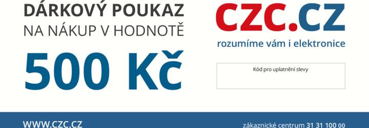 Dárkový poukaz CZC.cz 500Kč