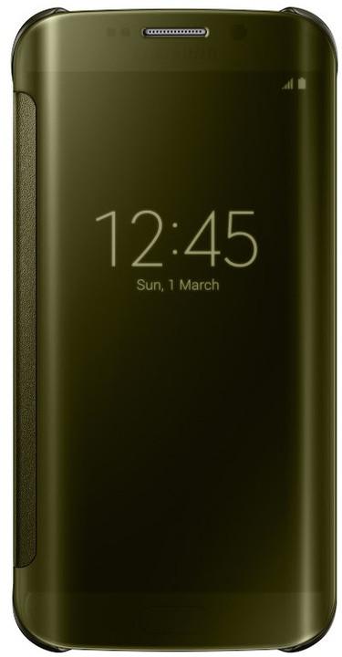 Samsung Clear View EF-ZG925B pouzdro pro Galaxy S6 Edge (G925), zlatá