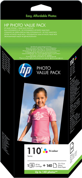 HP Q8898AE, barevná, č. 110 + 140 ks 10x15 cm Advanced photo paper