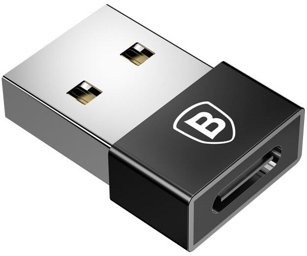 Baseus Exquisite adaptér USB samec/USB-C samice, černá