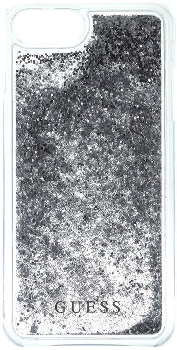 Guess Liquid Glitter Hard Silver pouzdro pro iPhone 7
