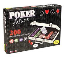 Karetní hra Albi Poker deluxe, pokerová sada, 200 žetonů, kufr - 99456