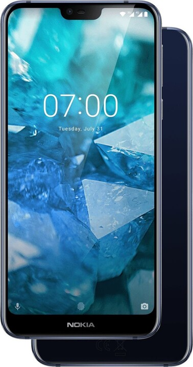 Nokia 7.1, Dual Sim, 4GB/64GB, modrá