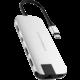 HYPER slim USB-C Hub, střibrný  + 300 Kč na Mall.cz