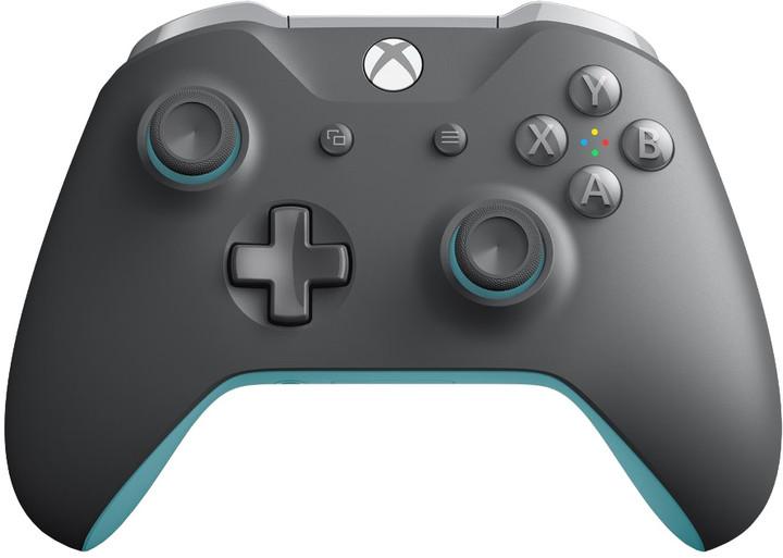 Xbox ONE S Bezdrátový ovladač, šedý/modrý (PC, Xbox ONE)