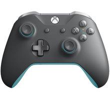 Xbox ONE S Bezdrátový ovladač, šedý/modrý (PC, Xbox ONE) - WL3-00106