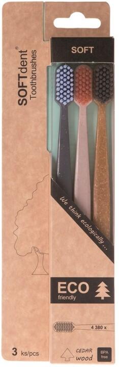 Zubní kartáček SOFTdent ECO, soft, 3 ks