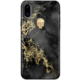 Bling My Thing Treasure Onyx/Gold Skull zadní kryt pro Apple iPhone X, krystaly Swarovski®  + Voucher až na 3 měsíce HBO GO jako dárek (max 1 ks na objednávku)