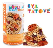 Mixit müsli Pečený Mixit: Slaný karamel & pekan - ořechy/ovoce/čokoládové křupinky, 470g - 859568520