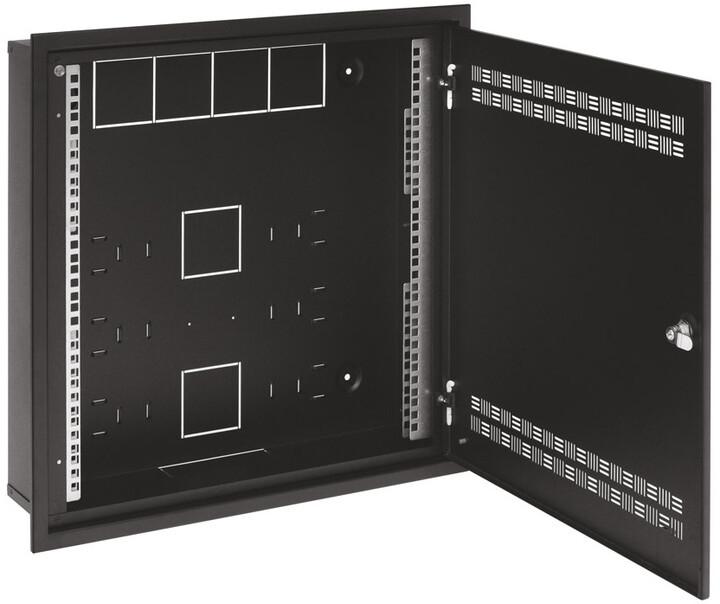 Solarix SOHO do zdi 2U,4U,11U, 550x550, RAL9005, rámeček k zazdění