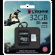 Kingston Action Card Micro SDHC 32GB Class 10 UHS-I U3 + SD adaptér